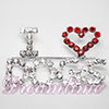 Rhinestone I Love Dogs Pin
